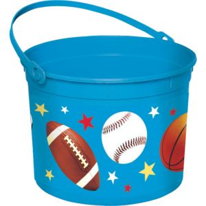 Sports Plastic Easter Bucket