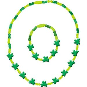 Shamrock Necklace & Bracelet Set