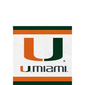 Miami Hurricanes Beverage Napkins 24ct