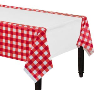 American Summer Red Gingham Table Cover