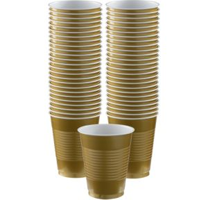 BOGO Gold Plastic Cups 16oz 50ct