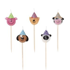 Farmhouse Animals Birthday Candle Picks 5ct