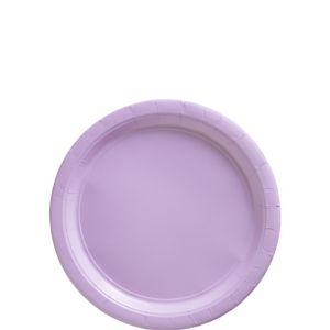 Lavender Paper Dessert Plates 20ct