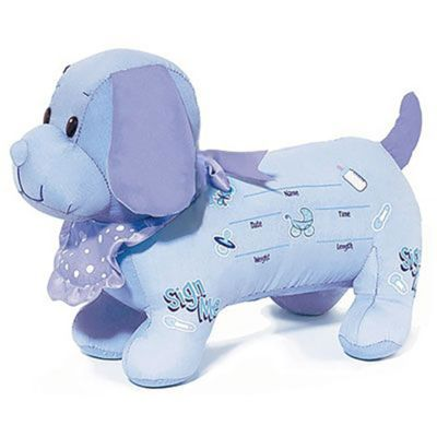 It's a Boy Baby Shower Autograph Dog