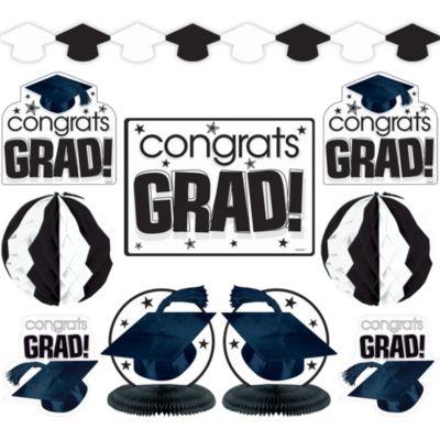 White Graduation Decorating Kit 10pc