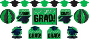 Green Graduation Decorating Kit 10pc