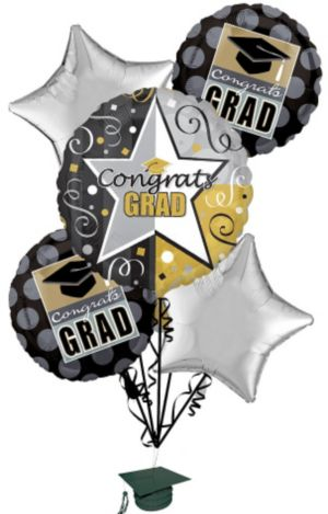Graduation Balloon Bouquet 6pc - Class Pride