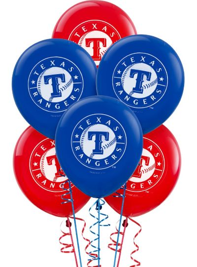Texas Rangers Latex Balloons 12in 6ct