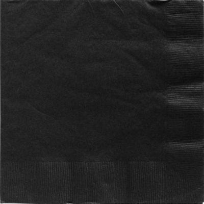Black Dinner Napkins 20ct