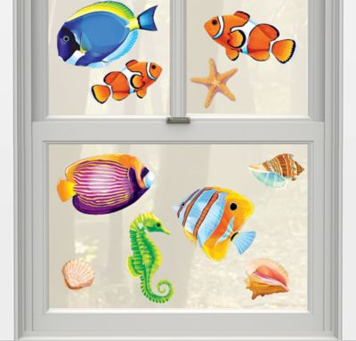 Sea Life Vinyl Window Decorations 10ct