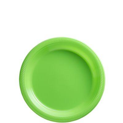 Kiwi Plastic Dessert Plates 50ct