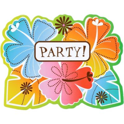 Hot Fun in the Sun Invitations 50ct