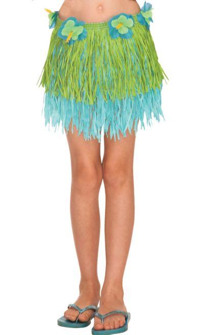 Child Cool Two-Tone Mini Hula Skirt