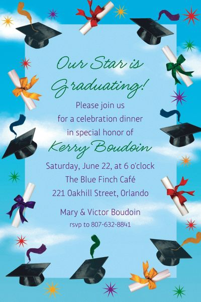 Grad Spirit Custom Graduation Invitation