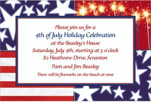 Custom Star Spangled Banner Patriotic Invitations