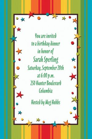 Custom A Year to Celebrate Birthday Invitations