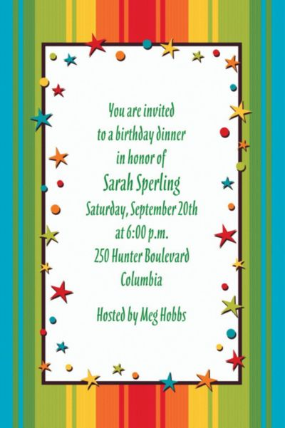 A Year to Celebrate Happy Birthday Custom Invitation
