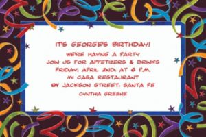 Custom Let's Celebrate Birthday Invitations
