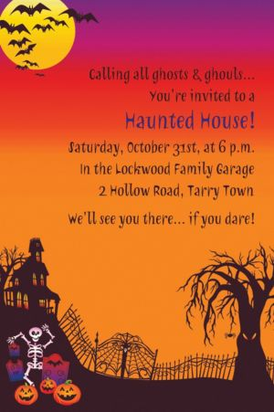 Custom Haunted Hill Halloween Invitations
