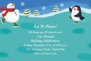 Custom Holiday Fun Invitations