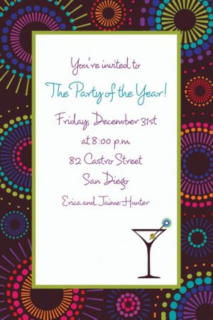 Custom Countdown Cocktails New Year's Invitations