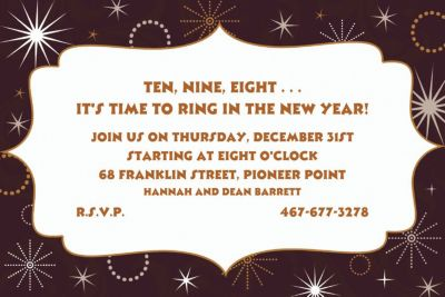 New Year's Gala Custom Invitation