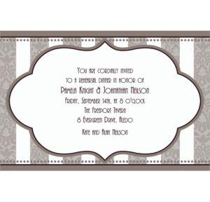 Custom Bride and Groom Bridal Shower Invitations