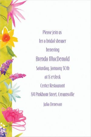 Custom Beautiful Blooms Invitations