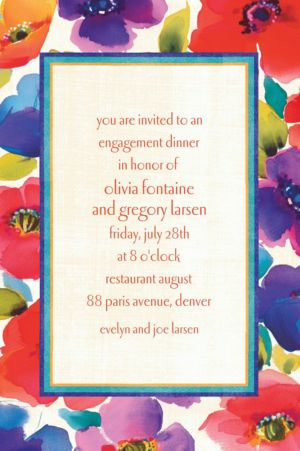 Custom Poppy Collage Invitations