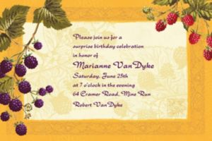 Custom Botanical Berries Invitations