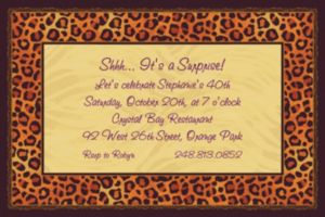 Custom Safari Chic Invitations