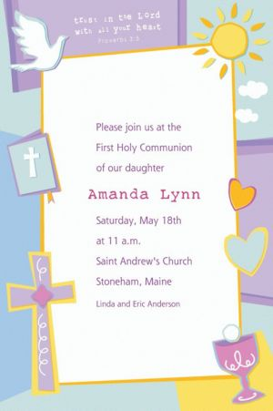 Custom Communion Celebration Invitations