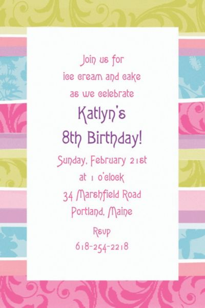 Custom Spring Fashion Invitations