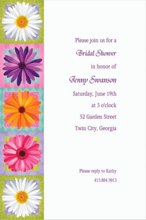 Custom In Bloom Invitations