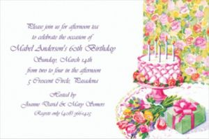 Custom Birthday Still Life Invitations