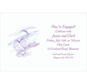 Custom Interlocked Hearts Bridal Shower Invitations