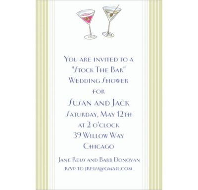 Custom His and Hers Cocktails Wedding Invitations