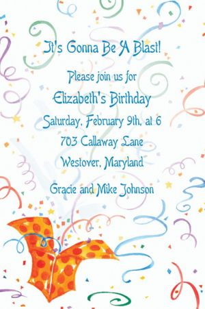 Custom Exploding Present Invitations