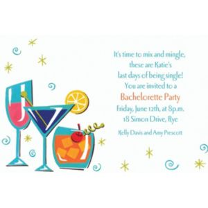 Custom Retro Mixed Drinks Invitations