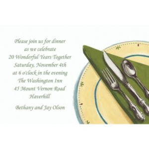 Custom Place Setting Invitations