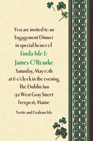 Custom Celtic Knot and Clovers St. Patrick's Day Invitations
