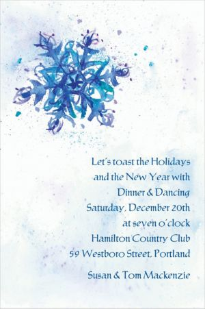 Custom Elegant Snowflake Invitations