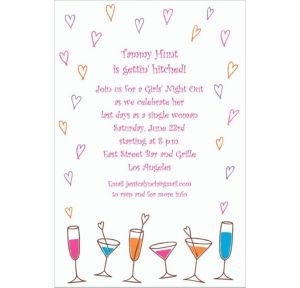 Custom Lovey-Dovey Cocktails Invitations