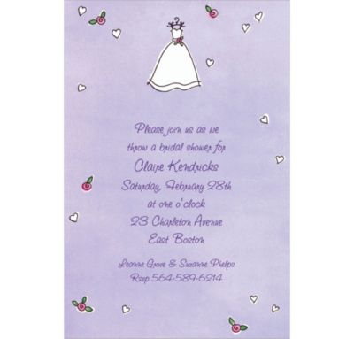Sweet Bride's Dress Custom Wedding Invitation