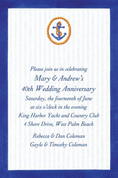 Anchor & Stripes Custom Invitation