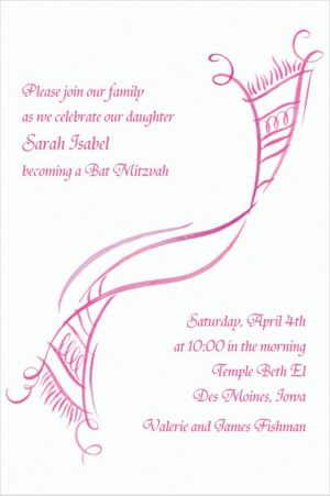 Custom Tossed Tallis Feminine Invitations