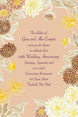 Custom Yellow Zinnias Invitations