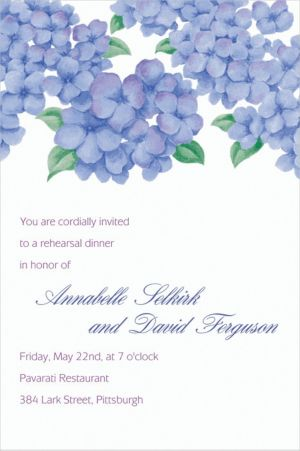 Custom Lively Hydrangeas Invitations