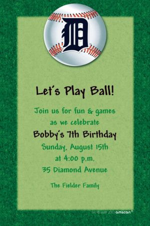 Custom Detroit Tigers Invitations