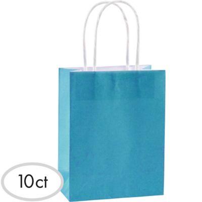 Turquoise Kraft Bags 10ct